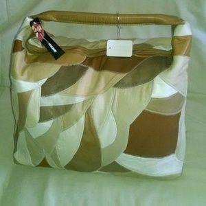 Patchwork leather large handbag